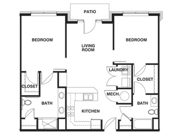 2 Bedroom ADA